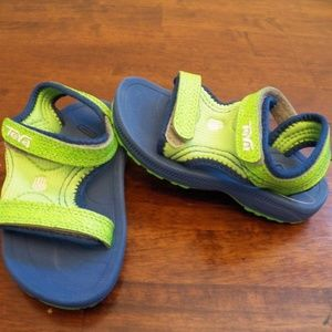 New Kids Teva Psyclone 3 Green Blue Sandals